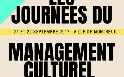 Participation aux Journées du Management Culturel