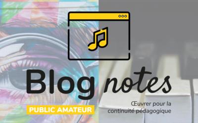 Blog notes — Public amateur | Fiches #5
